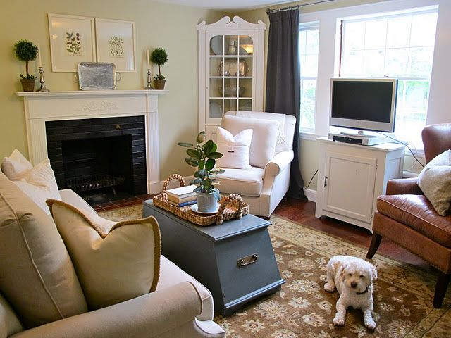 How Do We Feel About Tv In Front Of Window Thinking We Might Have To Do This In Our New House Home Living Room Home Cute Living Room