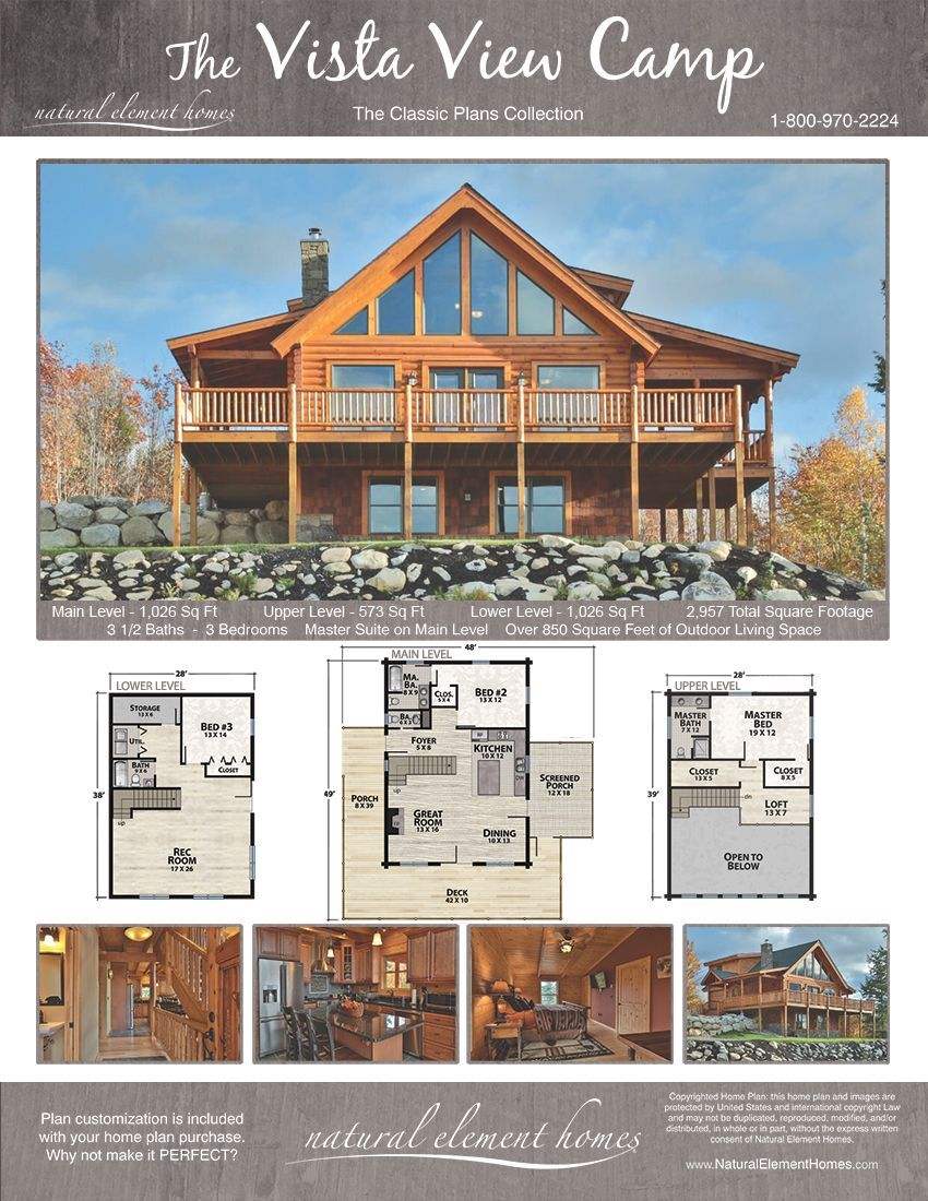 Magnificent Tips To Make Your Perfect Log Cabins In The Mountains Or Next To A River A Necessity To Get Awa Lake House Plans Log Cabin Floor Plans House Plans