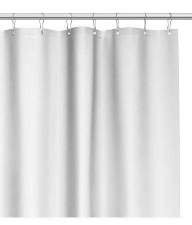 Lysegrå. Bruseforhæng i vandafvisende polyester med øskner i metal foroven. Bruseringe sælges separat.