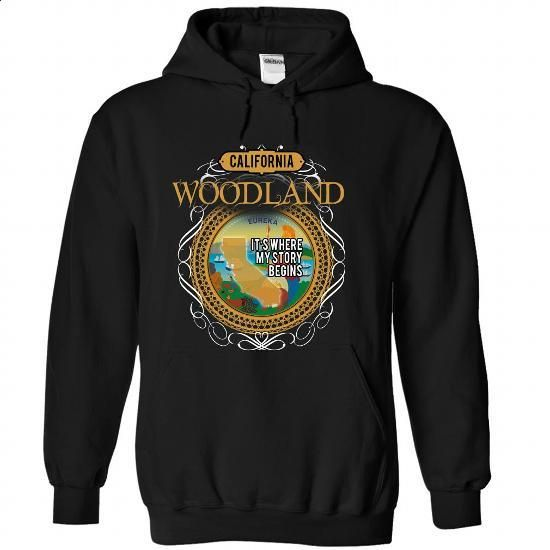 (California002) WOODLAND Its Where My Story Begins - #bachelorette shirt #golf tee. SIMILAR ITEMS => https://www.sunfrog.com/States/California002-WOODLAND-Its-Where-My-Story-Begins-koegagwbhr-Black-43841520-Hoodie.html?68278