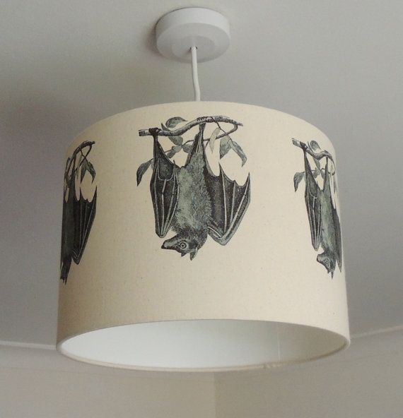 Lampshade with bats gothic bat lamp nature wildlife kettle 30cm lampshade with bats gothic nature wildlife kettle of fish aloadofball Image collections