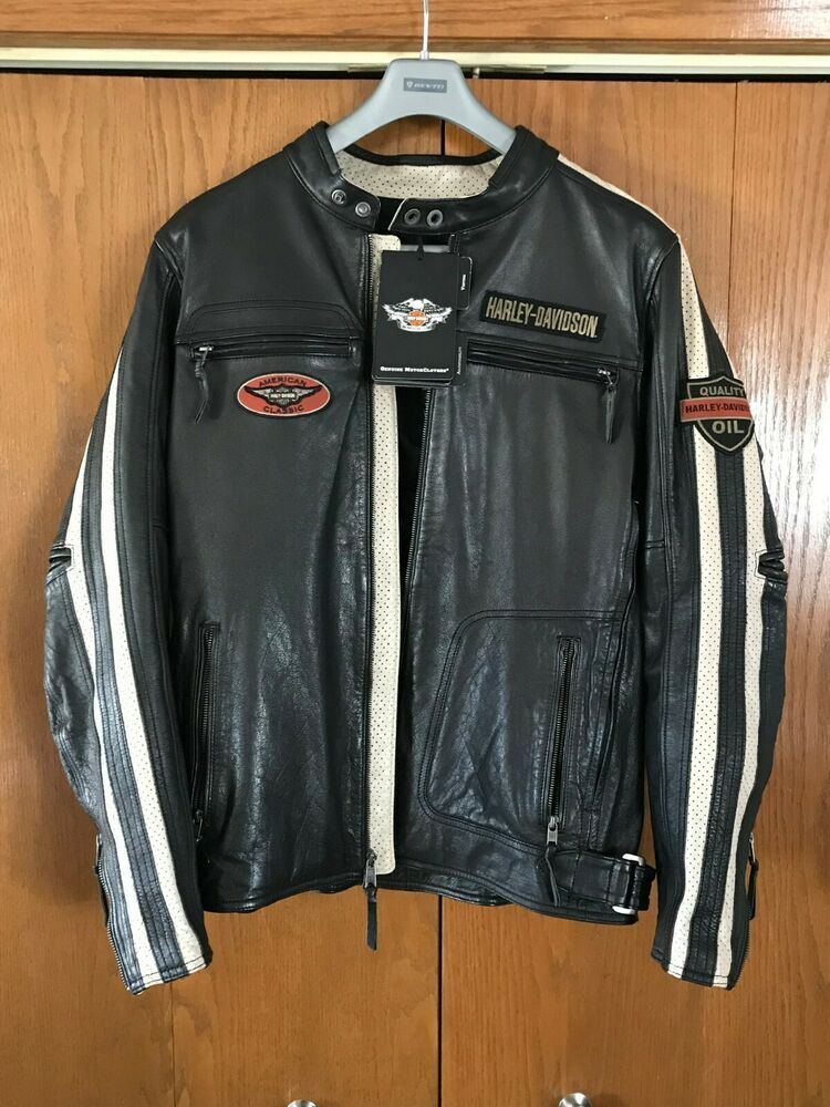 6b89f05dbabca0 Harley Davidson Men s COMMAND Wing Perforated Leather Jacket XL TALL  98007-18VM  fashion  clothing  shoes  accessories  mensclothing   coatsjackets (ebay ...