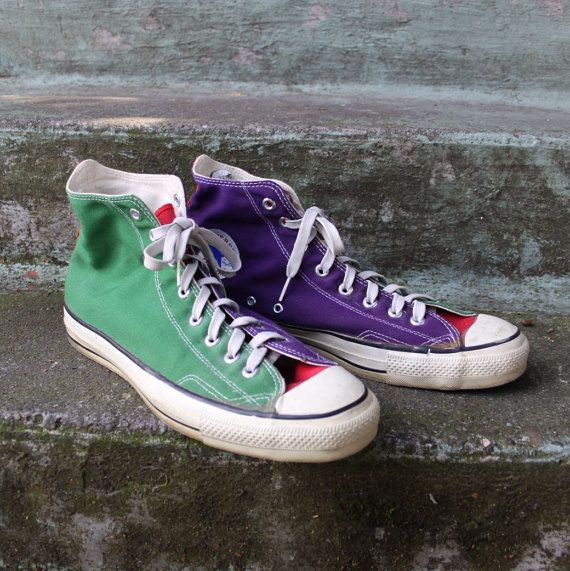 Vintage 80s Converse Chuck Taylor SNEAKERS / 1980s Orange | Purple  converse, Purple converse high tops, Converse chuck taylor