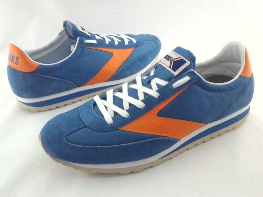 66efc664db86d BROOKS Vanguard Retro 1976 Style Sneakers Blue with Orange Shoes Men s New   Brooks  WalkingShoes