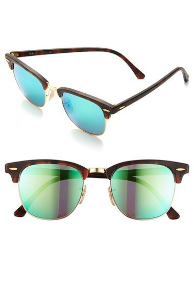 15429891631419 ... uk free shipping and returns on ray ban flash clubmaster 51mm  sunglasses at nordstrom. classically