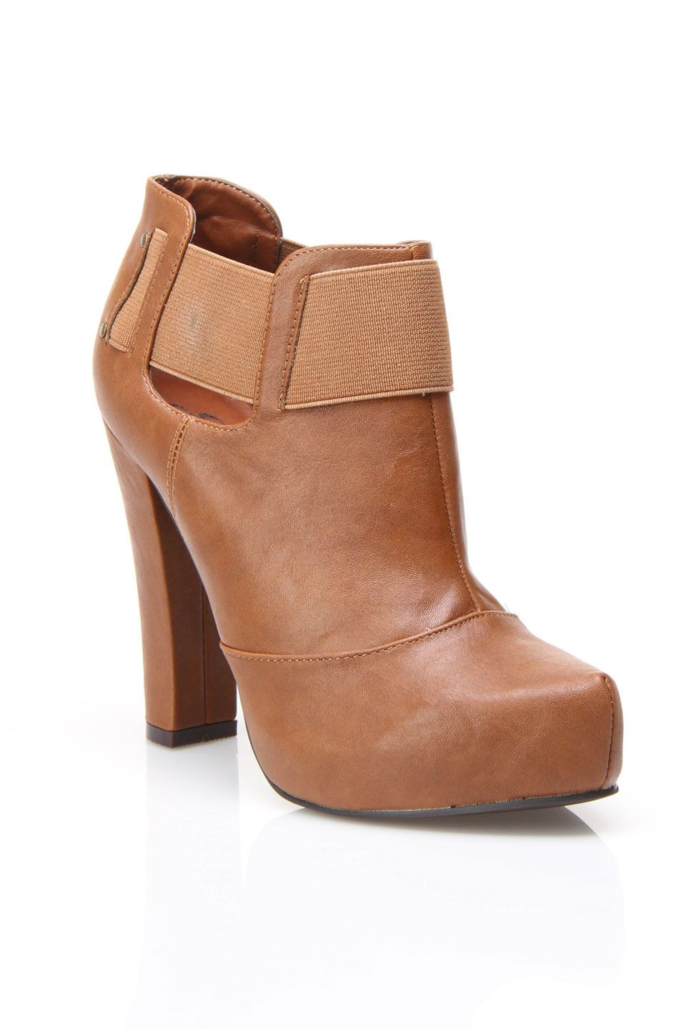 Strap Bootie In Brown.