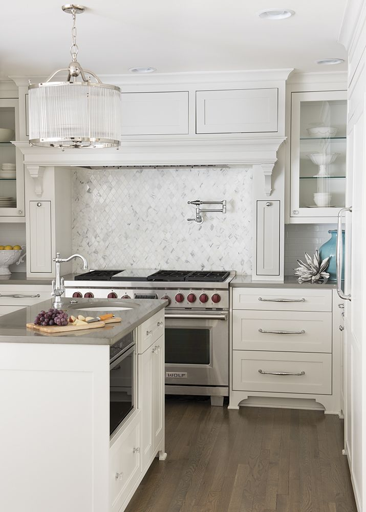 kitchen white cabinetry with gray quartz countertops interior rh pinterest com