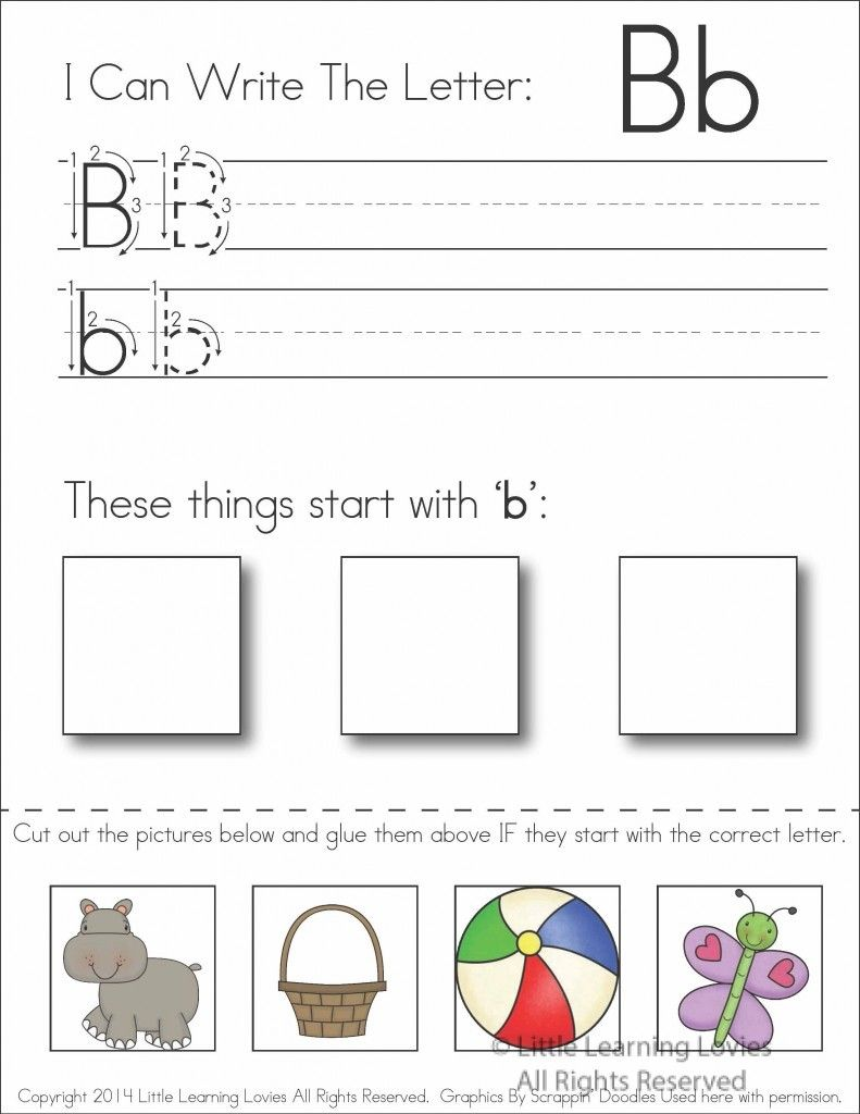 subscriber exclusive freebie letter b write cut paste activities childcare and. Black Bedroom Furniture Sets. Home Design Ideas