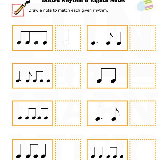 music worksheets easter note value eighth notes 002 easter pinterest music worksheets. Black Bedroom Furniture Sets. Home Design Ideas