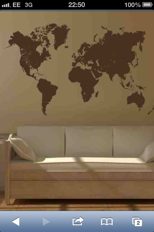 Really wanted a wall stencil but this is actually a sticker dont map of the world vinyl wall sticker art decal new giant stencil vinyl mural in home furniture diy diy materials wallpaper accessories gumiabroncs Gallery