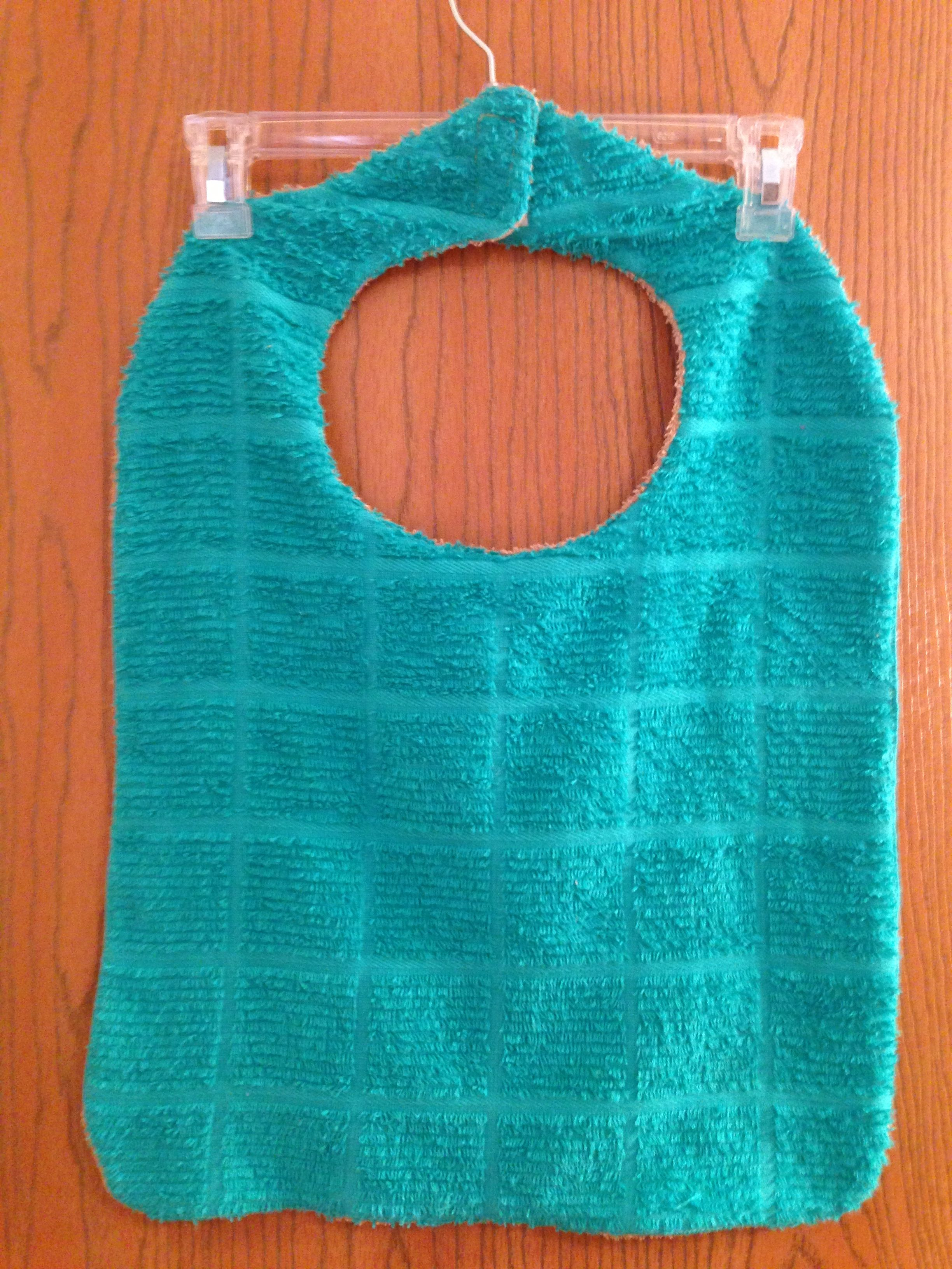 Adult clothing protector I made from a hand towel