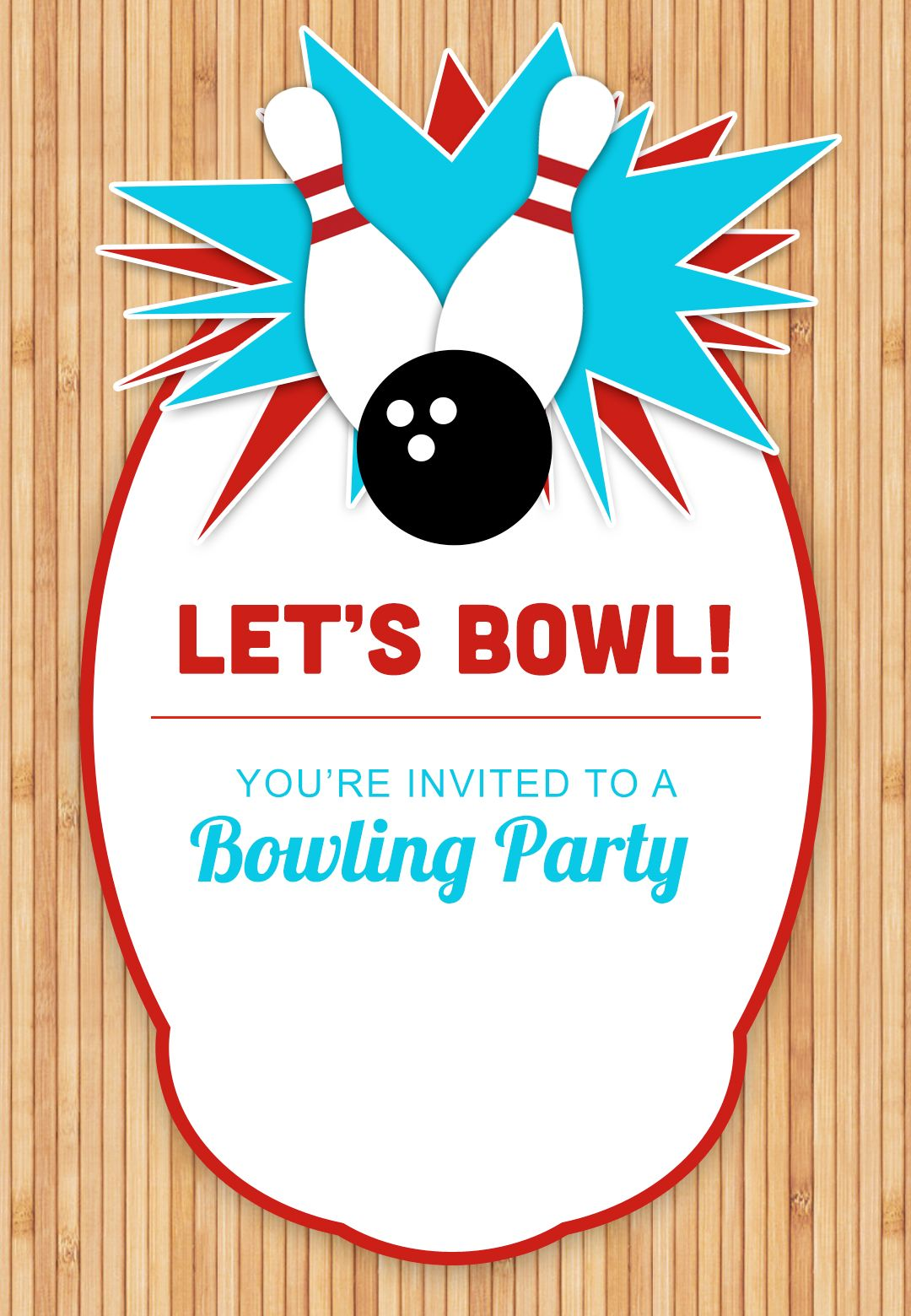 Bowling Party - Free Printable Birthday Invitation Template ...