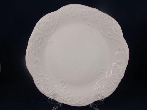 Lenox White French Perle Dinner Plate New 11  Bead Scrolling Scalloped Edge | eBay & Lenox White French Perle Dinner Plate NEW 11