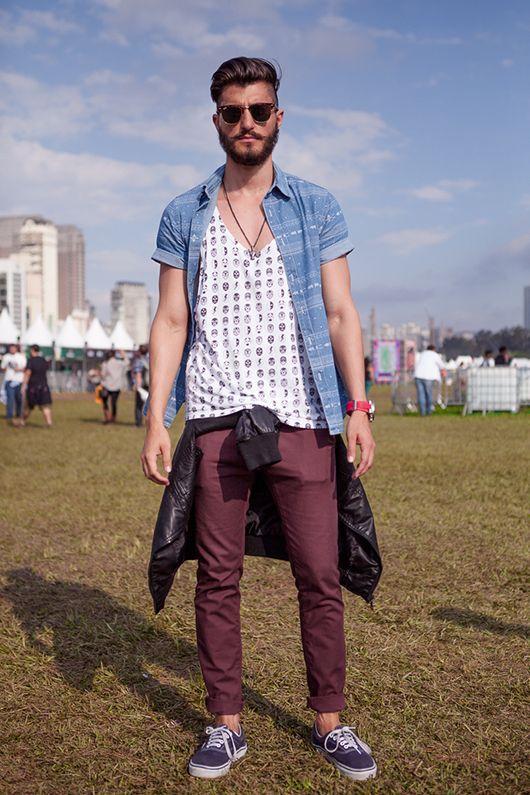 looks masculinos para o lollapalooza  estilo hipster