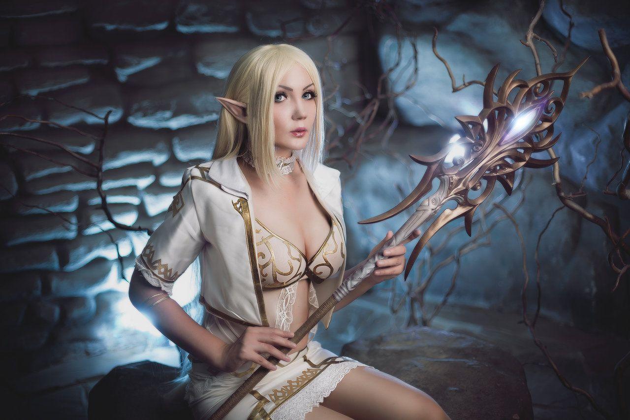 line age elf by pugoffka sama female half elf sorcerer