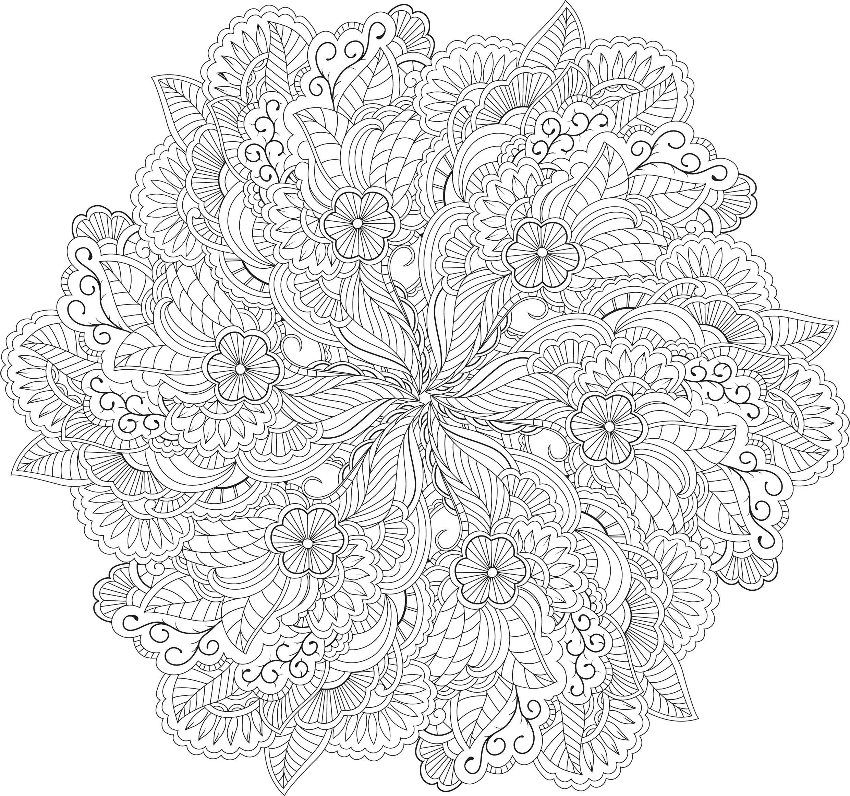 Mandala Kleurplaten Voor Volwassenen Bloemen.Coloring For Adults Kleuren Voor Volwassenen Volwasssenen