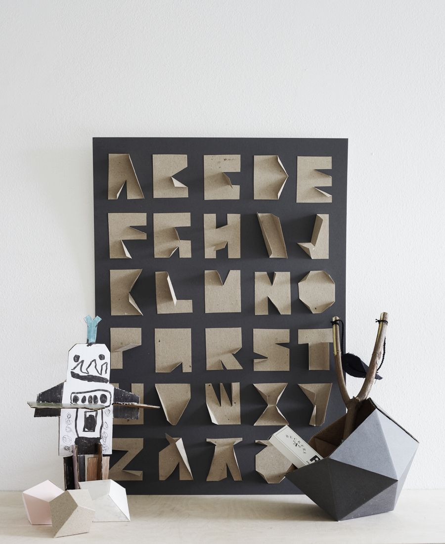 kraft alphabet | paperie | Pinterest | Tipografía, Cartón y Letras