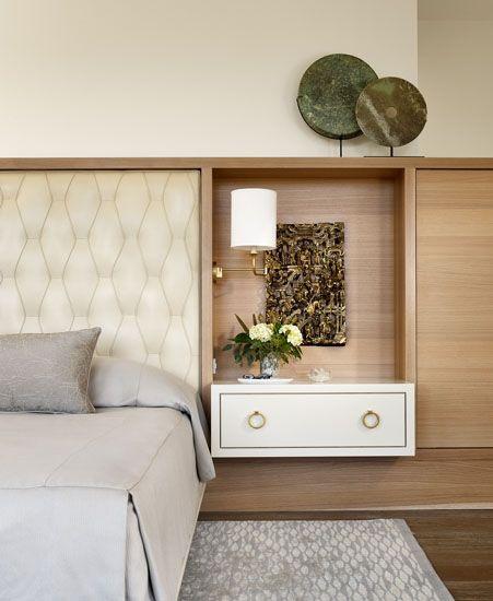 built in headboard/cabinet
