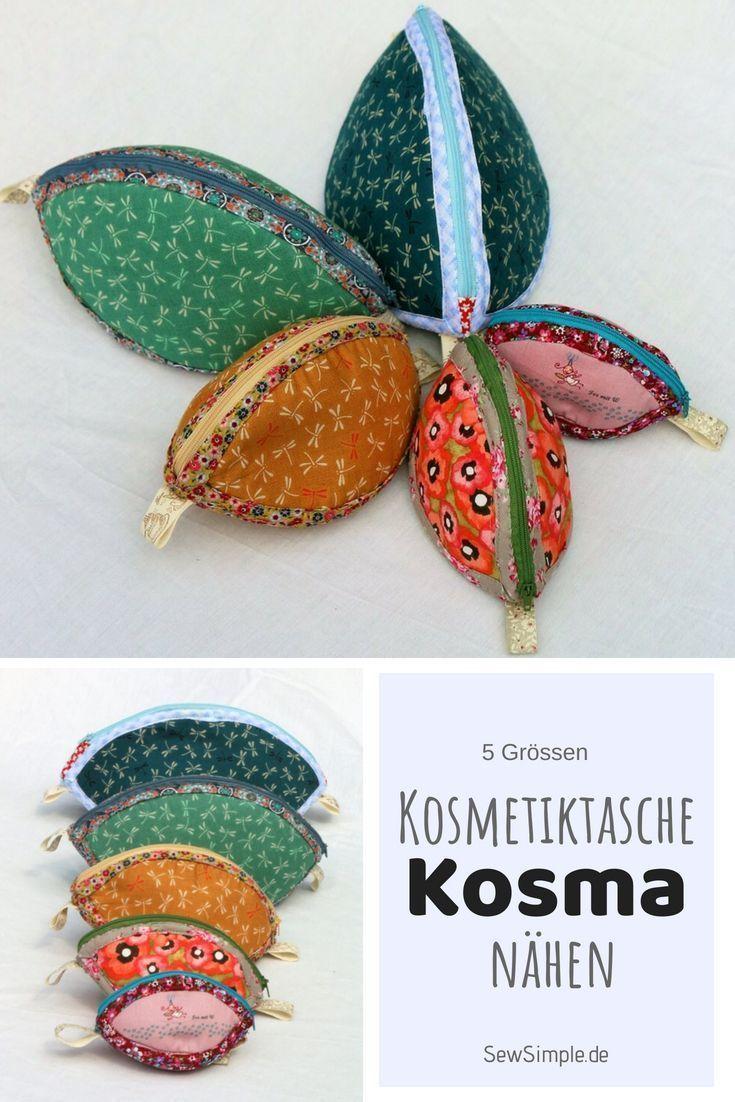 Nähanleitung: Kosmetiktasche Kosma   5 Größen – Bolsa de moda