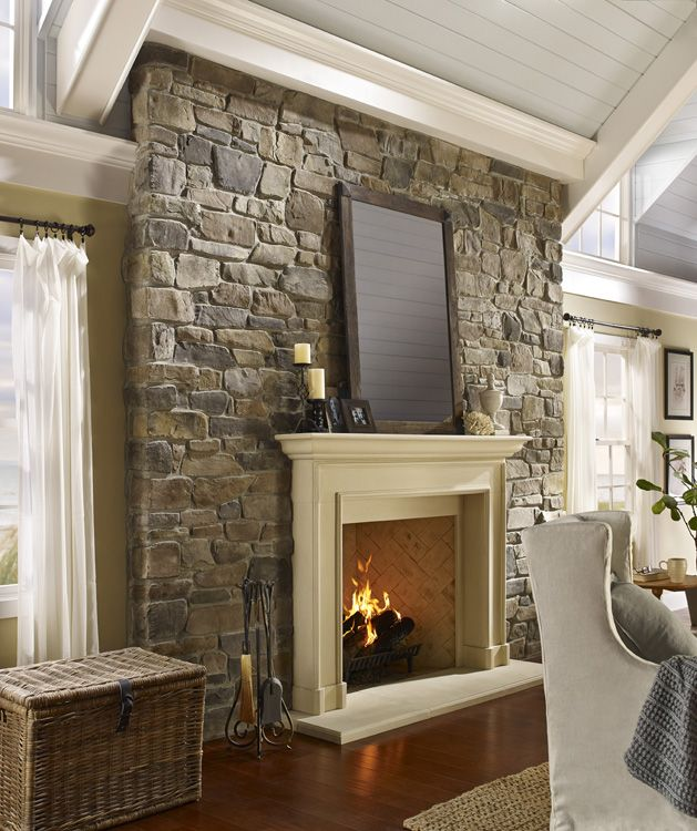 Stone Tile Fireplace Design Ideas Pictures Remodel And Decor