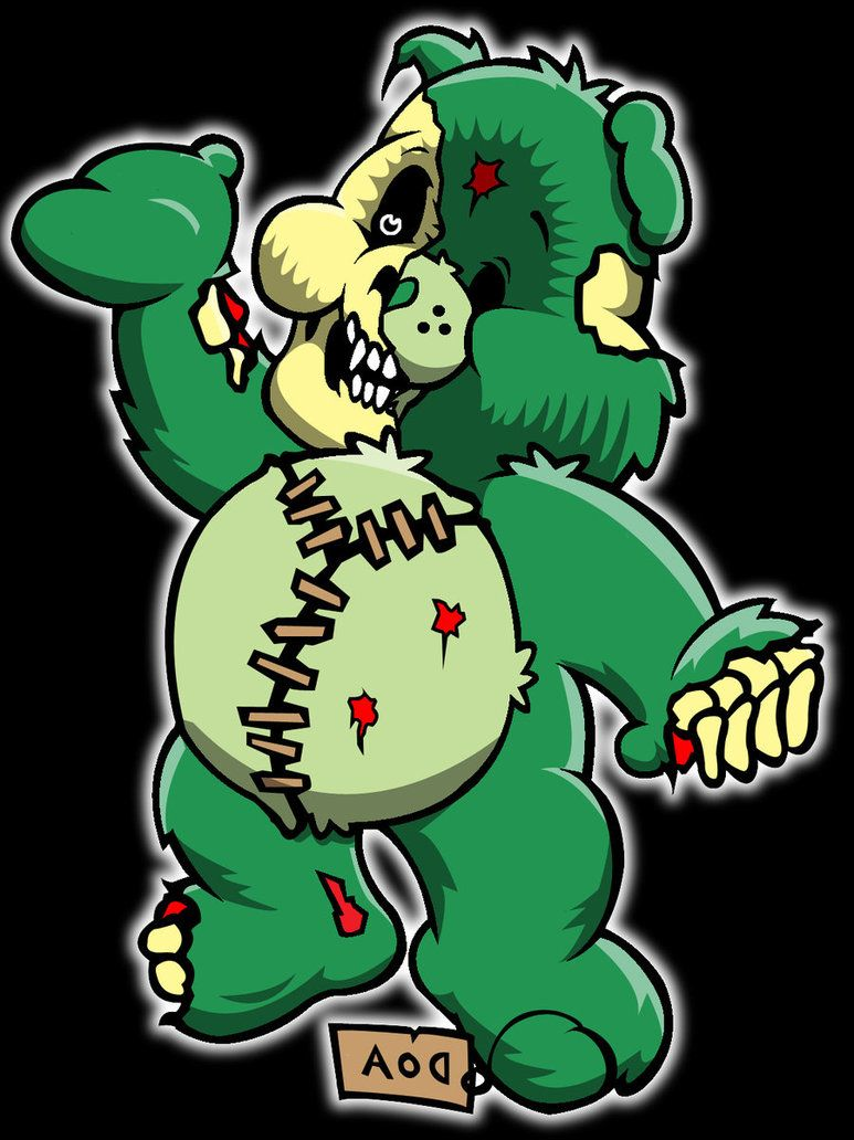 Zombie Care Bear 2 By 4unt3r On Deviantart Zombie Care Bear