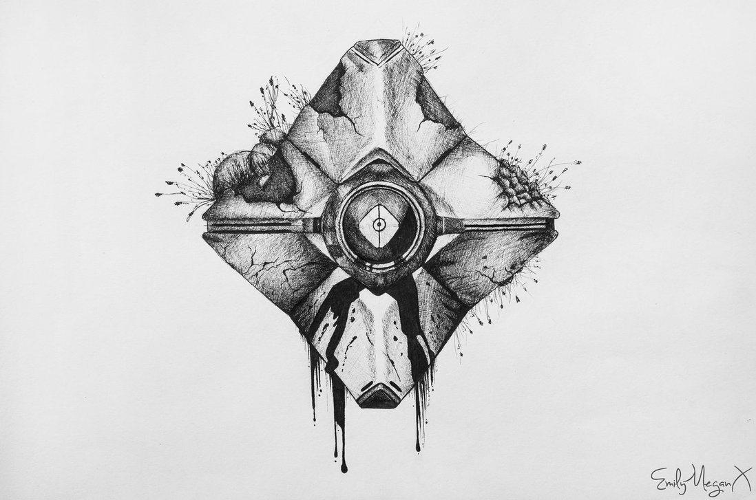Decaying Ghost Shell By Emilymeganx Emilymeganx Deviantart Com Art Decaying G Destiny Tattoo Ghost Tattoo Destiny Game