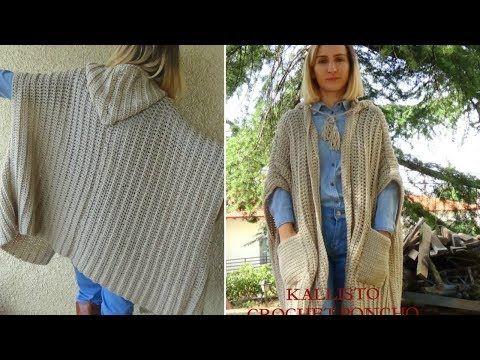 Kallisto Crochet Poncho Cardigan Super Easy Pattern Youtube