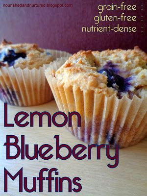 Lemon Blueberry Muffins (grain-free : gluten-free : nutrient-dense)