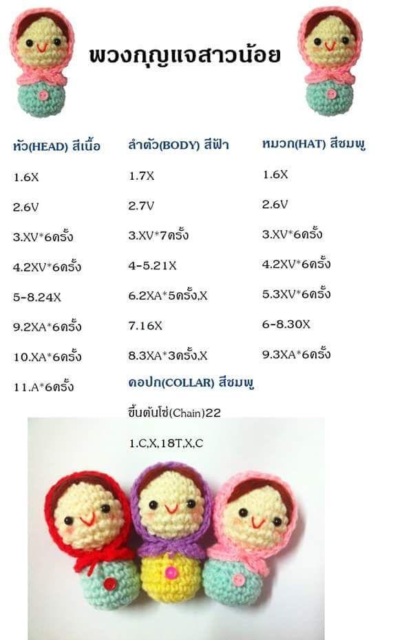 Cute girls Keychain pattern | Crochet Toys | Pinterest | Patterns ...