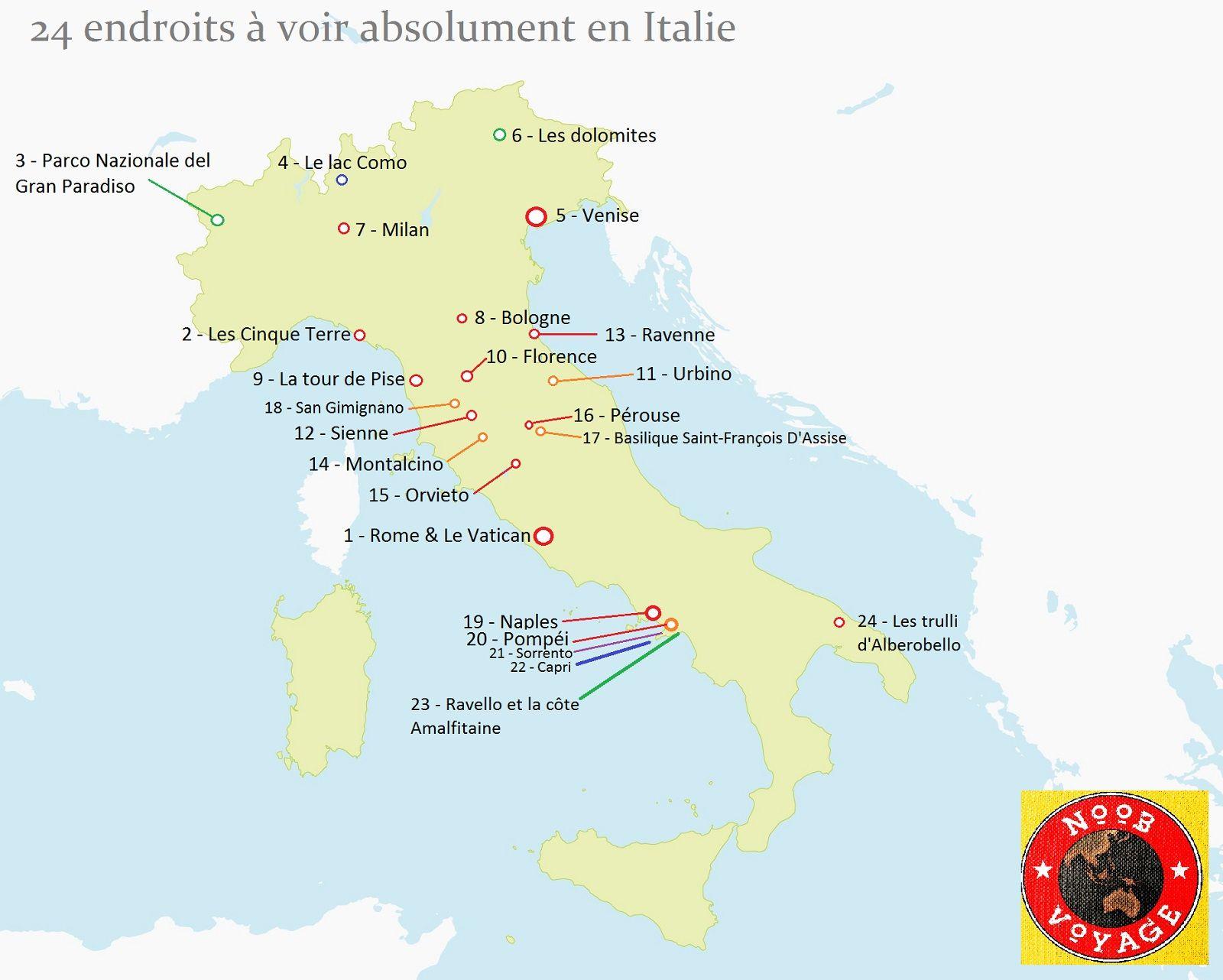 Carte De L Italie Detaillee A Imprimer Les Endroits A Voir