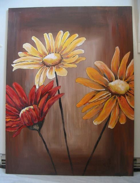 Image Result For Acrylic Paint Flowers Flower Painting Canvas