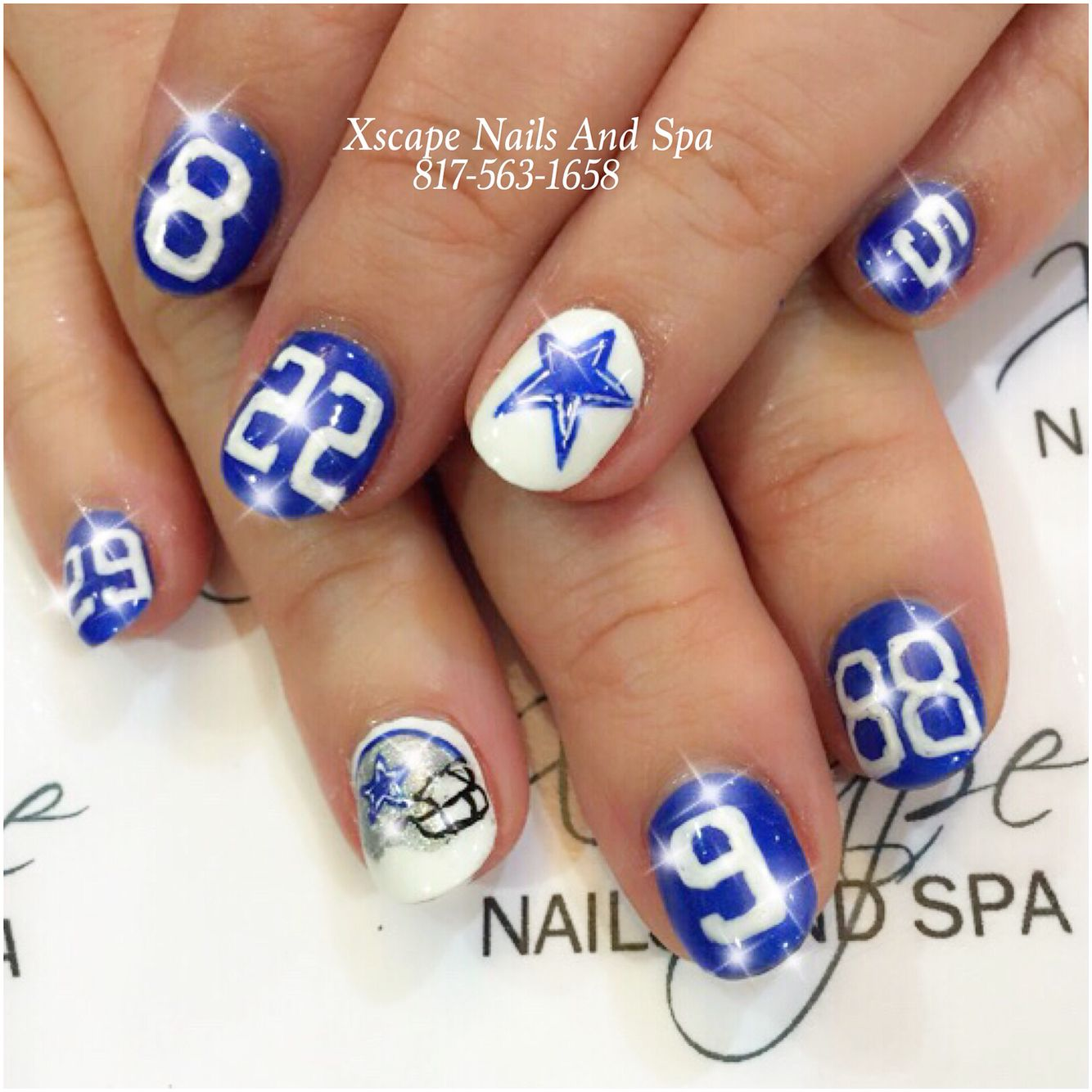 Dallas cowboys nail designs | Cute Nails Designs | Pinterest ...