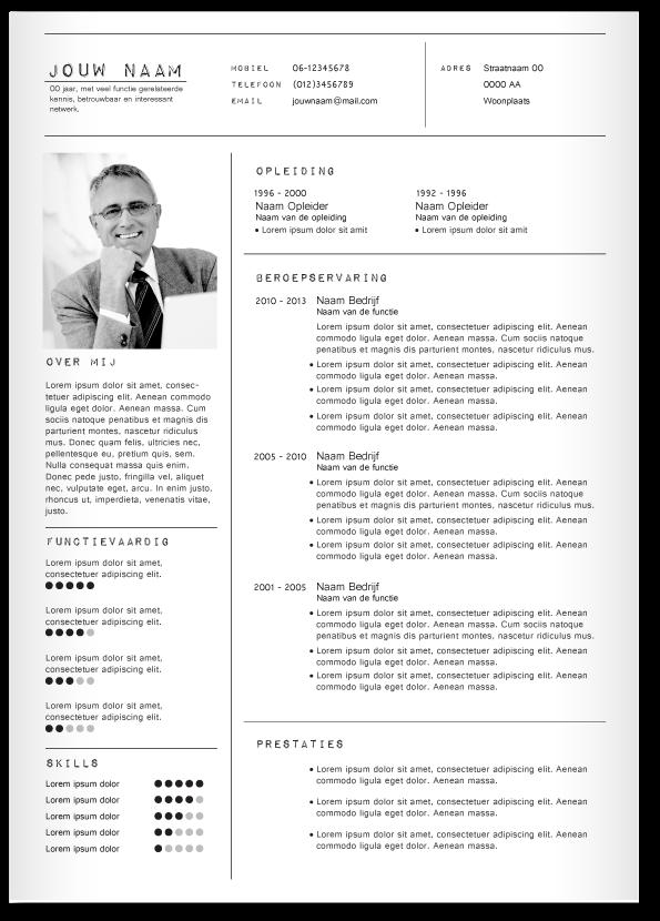CV design 323. Gebruik dit CV ontwerp om je eigen CV te laten