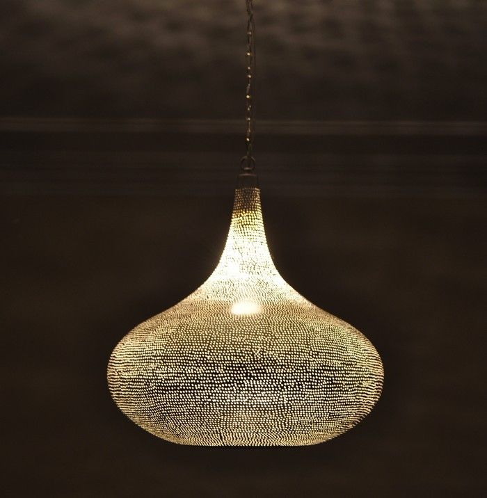 Handcrafted Moroccan Silver Plated Brass Lighting Hanging Lamp In Home Garden Lamps Ceiling Fans
