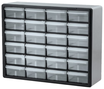 Akro Mils 10124 24 Drawer Plastic Parts Storage Hardware And Craft Cabinet X Black