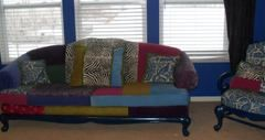 patchwork couch....very pandora