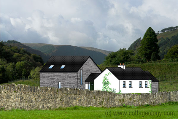 Fushia Cottage Irish Cottage Style Plans Cottage Plan Irish House Plans Irish Cottage