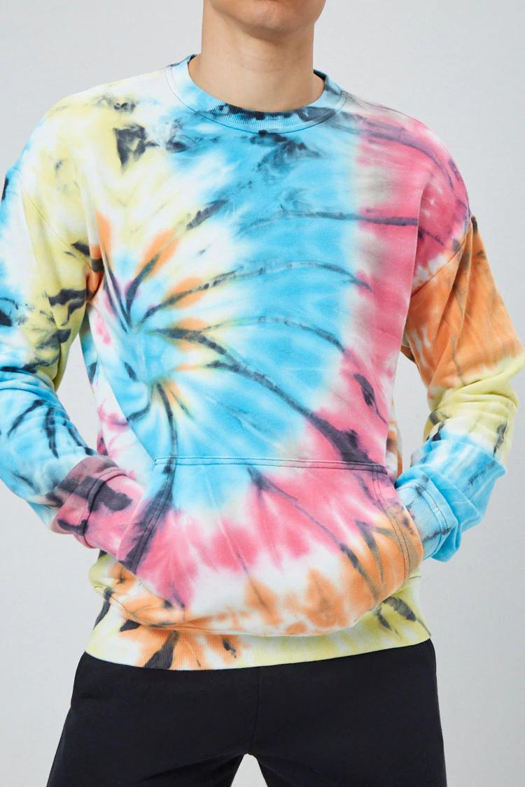 French Terry Tie Dye Sweatshirt Forever 21 Bleach Tie Dye Tie Dye Tie Dye Sweatshirt [ 1125 x 750 Pixel ]