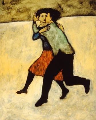 'Lovers Running' by Brian T. Kershisnik