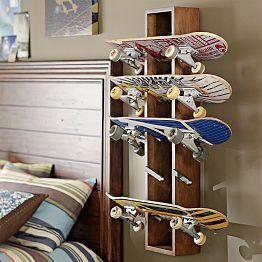 Elegant Skateboard Rack  Boyu0027s Room Pictures Gallery