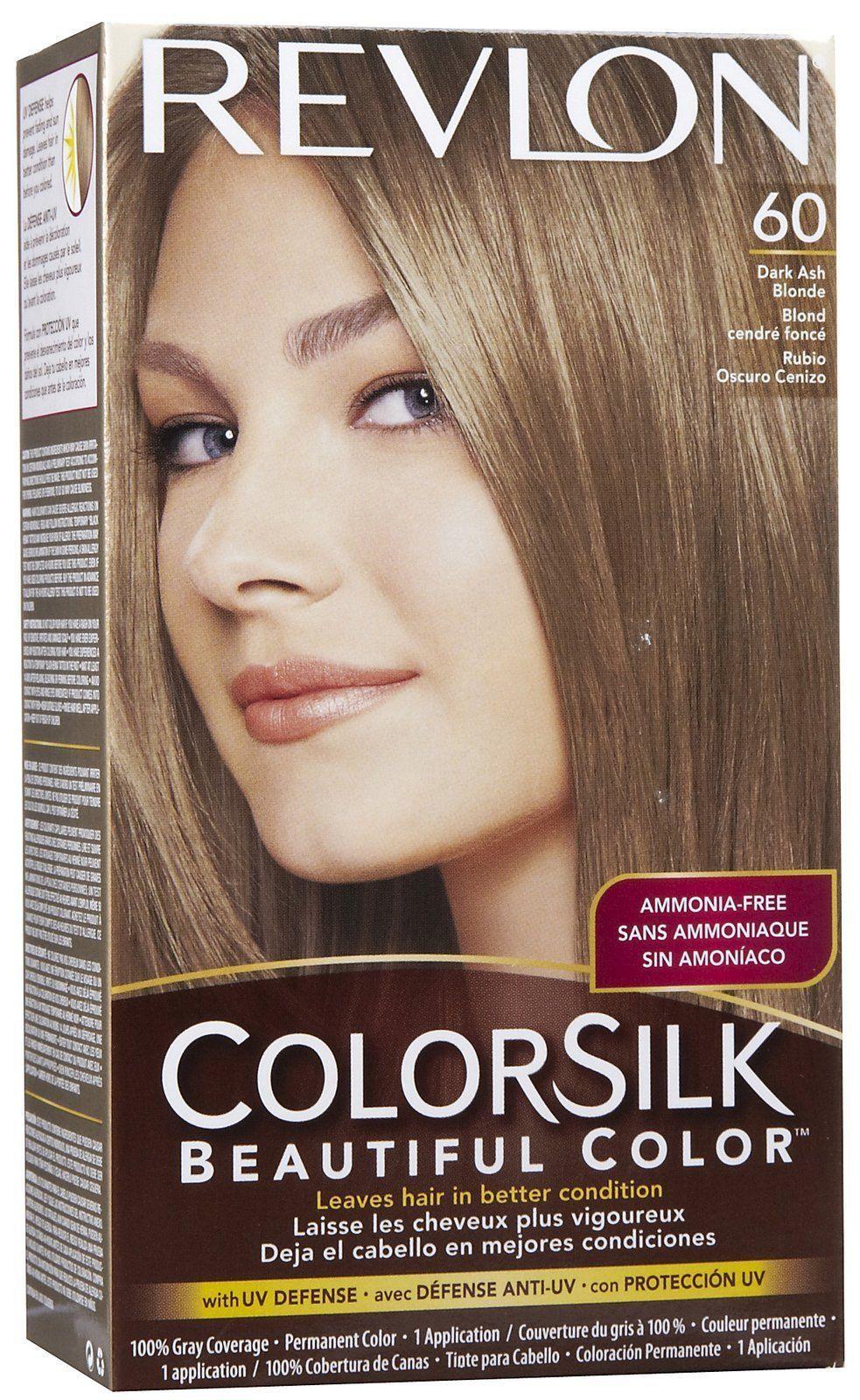 Revlon Colorsilk Hair Color 60 Dark Ash Blonde In 2018 Products