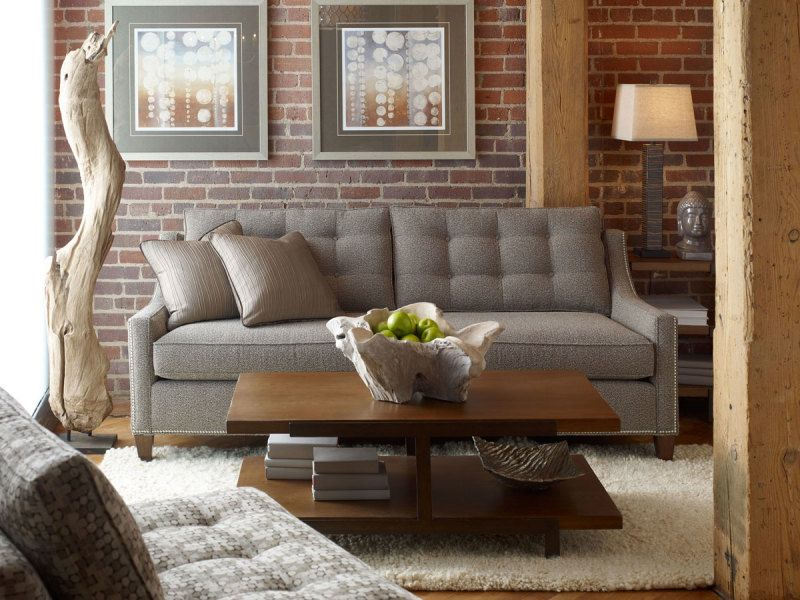 Interior Attractive Candice Olson Home Interior Design Idea For Living Room  With Brown Brick Wall