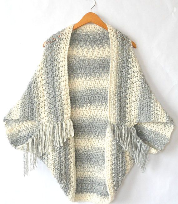 Easy Crocheted Sweater Cacoon Pattern, Crocheted Shrug Pattern ...