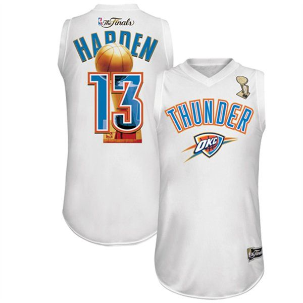 pretty nice 160a7 ce8cb Majestic James Harden Oklahoma City Thunder 2012 NBA Finals ...