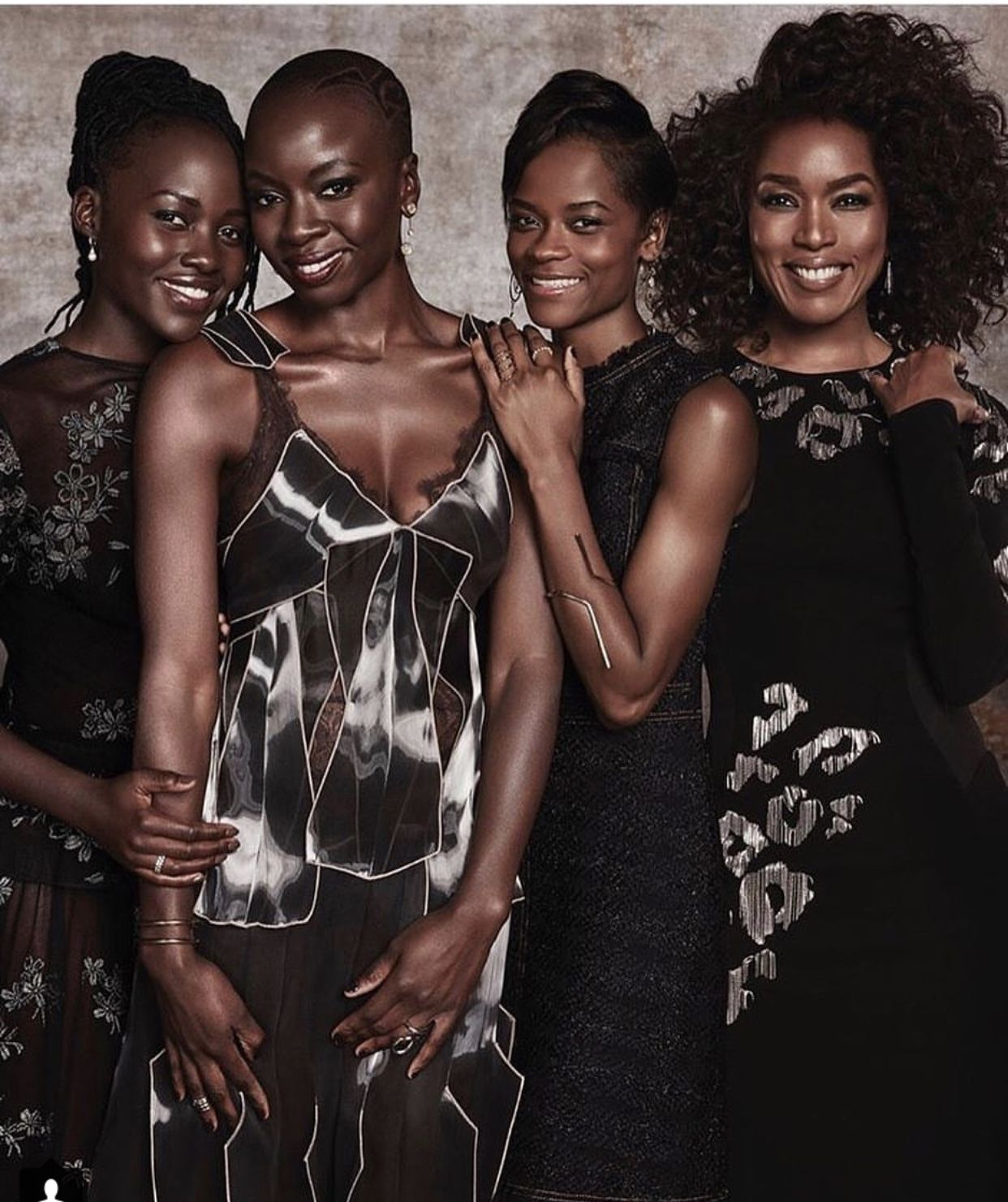 dead53b56 The fabulous ladies of 'Black Panther' - Lupita Nyong'o, Danai Gurira,  Letitia Wright and Angela Bassett
