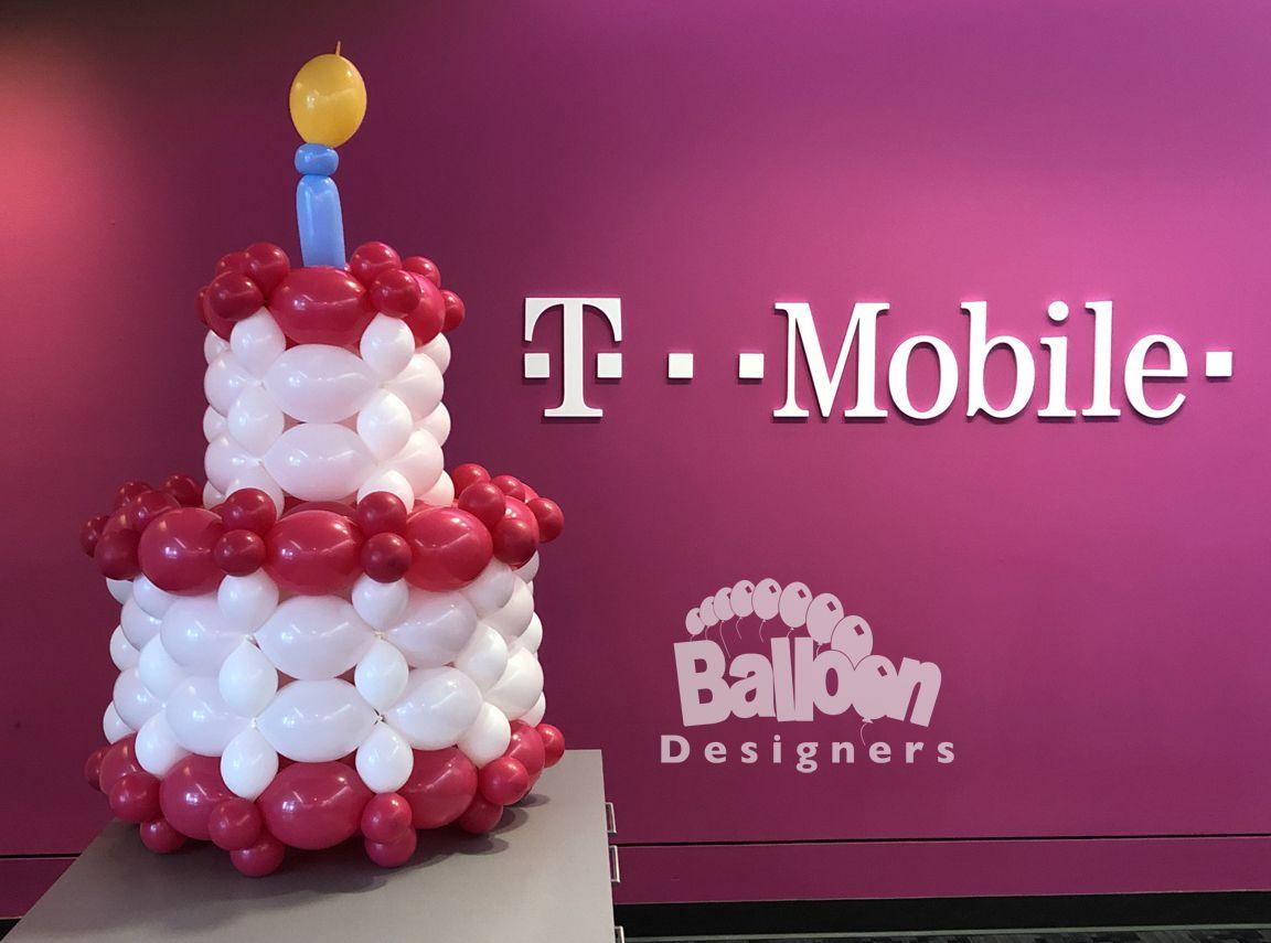 Birthday cake balloon delivery for tmobile balloon