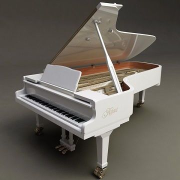 Kawai White Grand Piano | Pianos & Keyboards - Parodi Records in