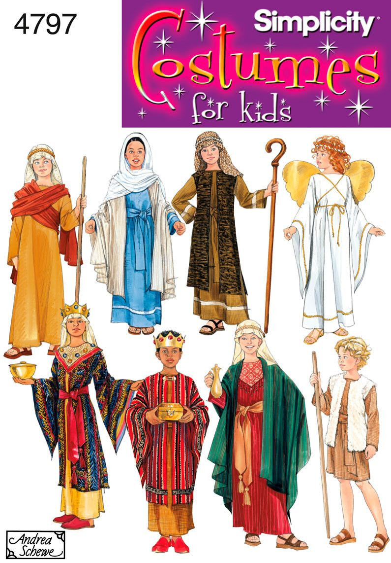 S4797 Boy & Girl Nativity Costumes | by Andrea Schewe | Sternsinger ...