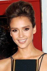 Jessica alba updo hairstyle with pouf bouffant makeup jessica alba updo hairstyle with pouf bouffant pmusecretfo Image collections