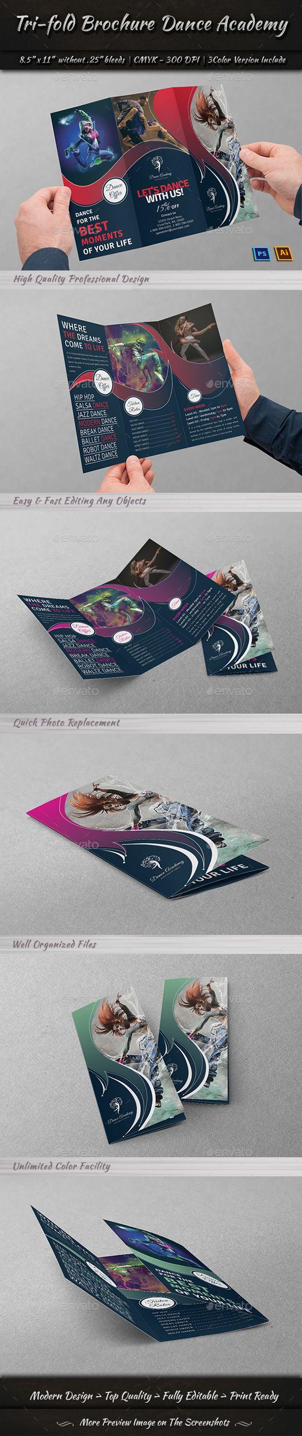 Tri-Fold Brochure Dance Academy
